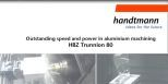 HBZ Trunnion 80 überzeugt mit hoher Geschwindigkeit bei der Aluminiumbearbeitung